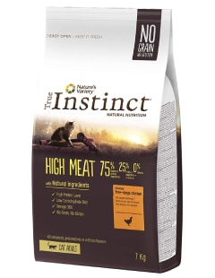 Alimentation complète - Croquettes chats True Instinct High Meat