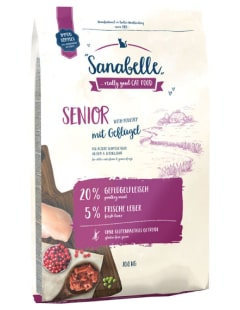 Pet food - Sanabelle Senior : aliment complet riche en viande