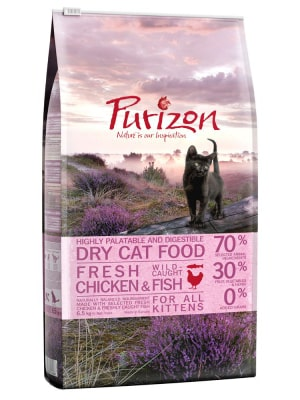 Sachet de croquettes bio Purizon Kitten