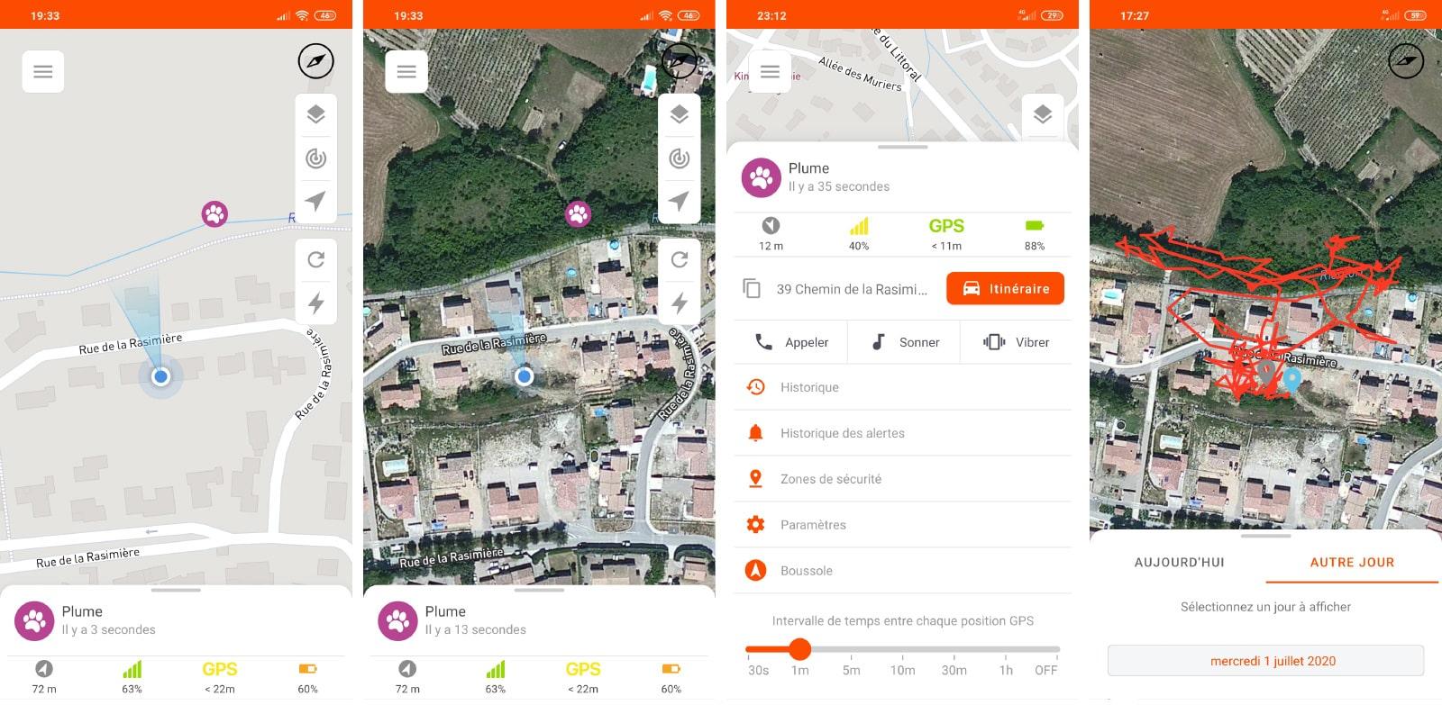 Application gratuite Weenect avec google maps