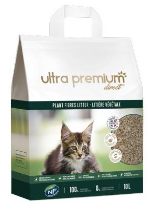 Meilleure litière végétale chat Ultra Premium Direct