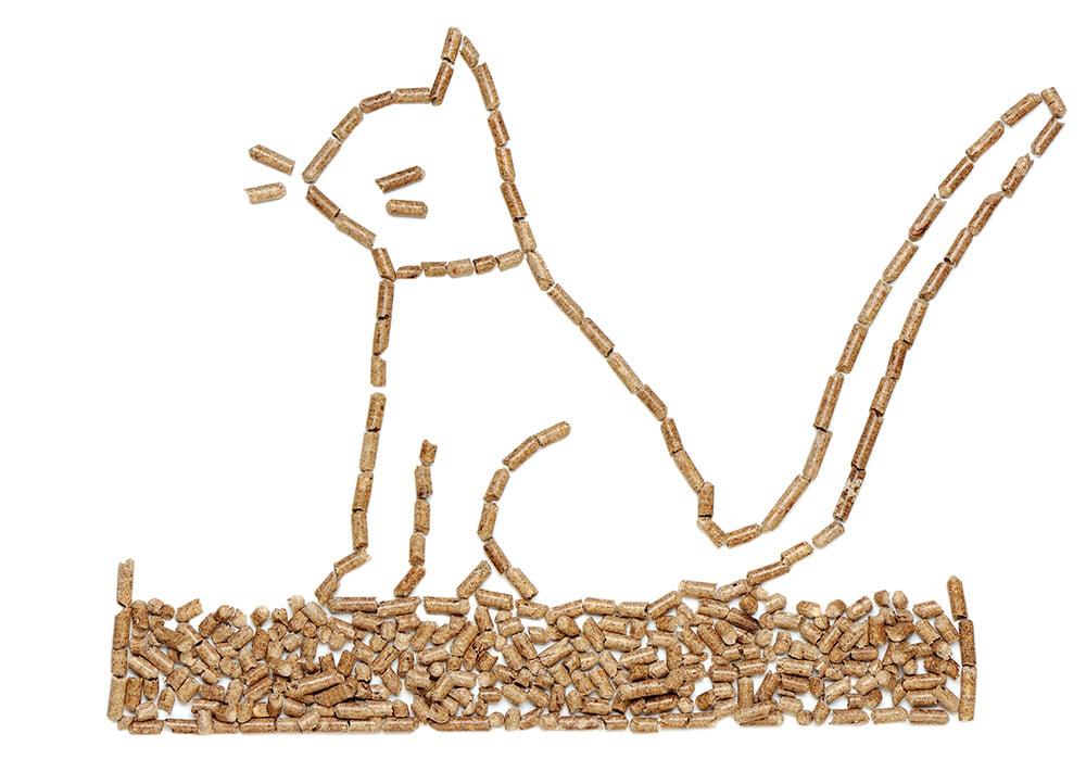 Litière chat végétale